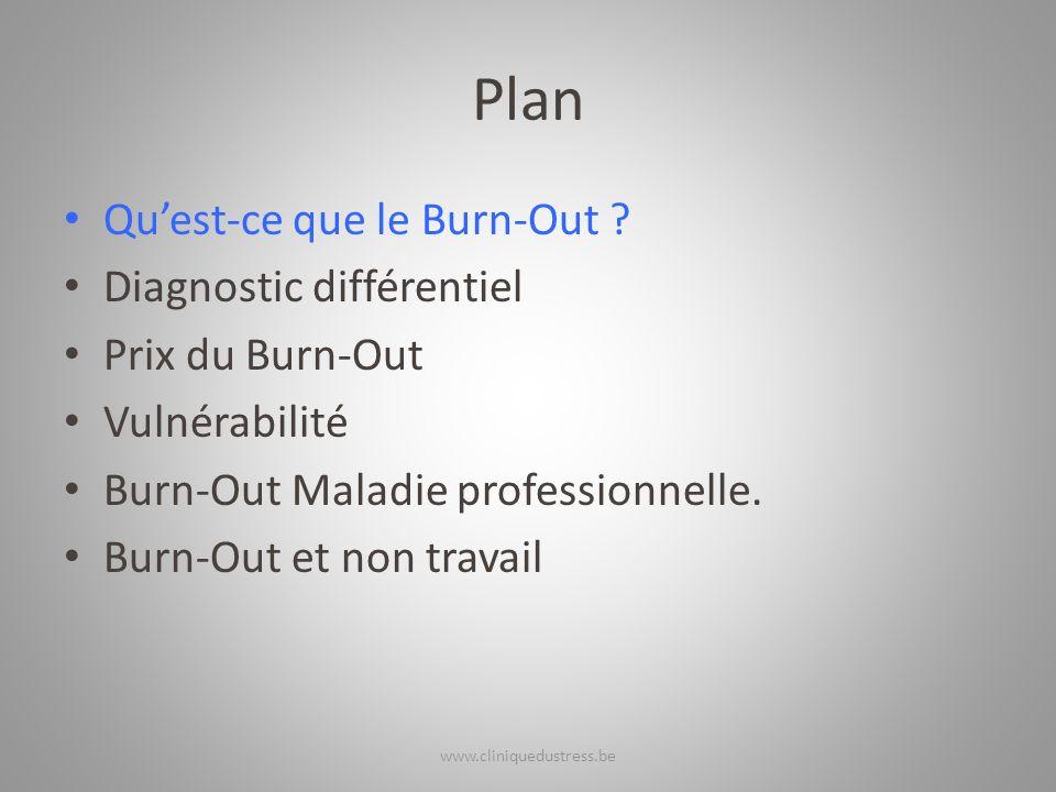Plan Qu'est-ce que le Burn-Out Diagnostic différentiel