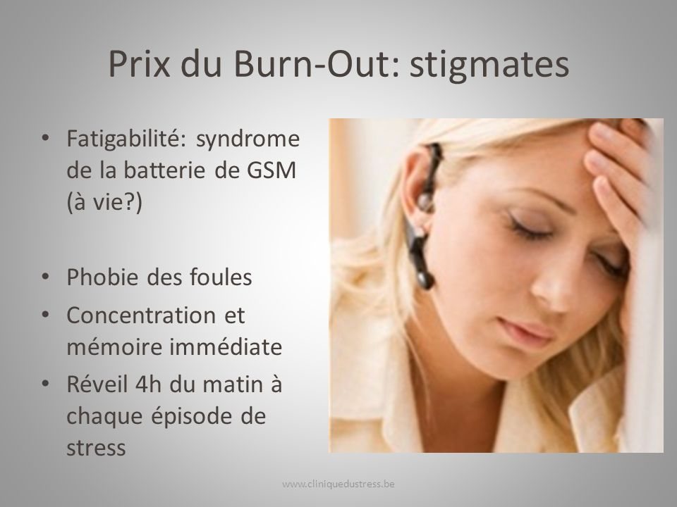 Prix du Burn-Out: stigmates