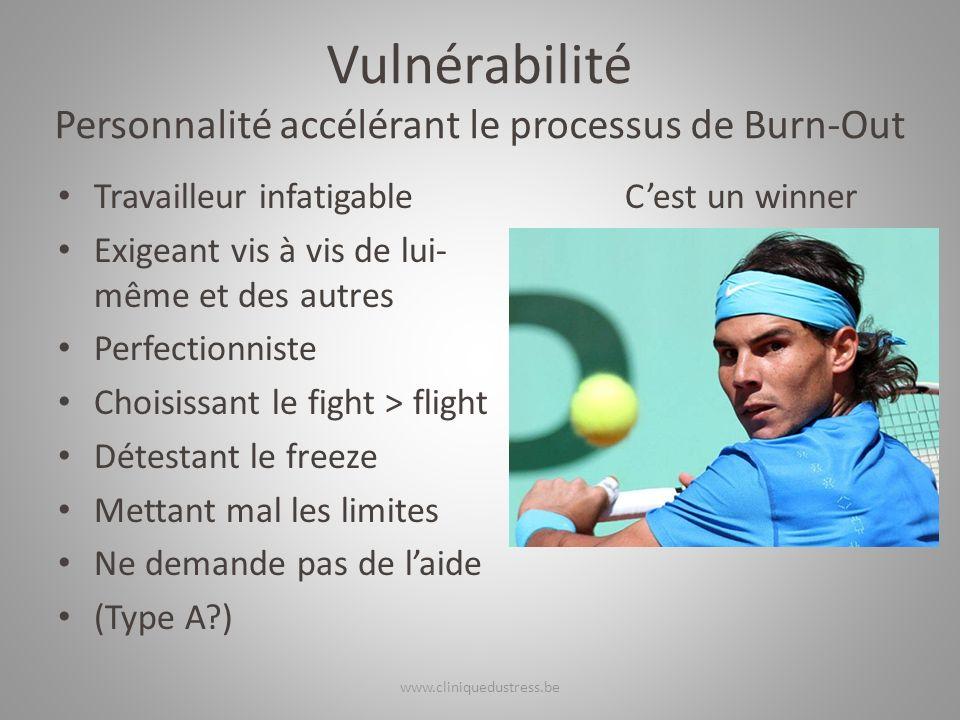 Vulnérabilité Personnalité accélérant le processus de Burn-Out