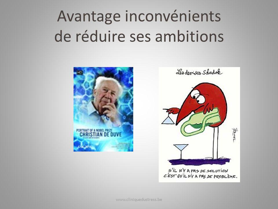 Avantage inconvénients de réduire ses ambitions