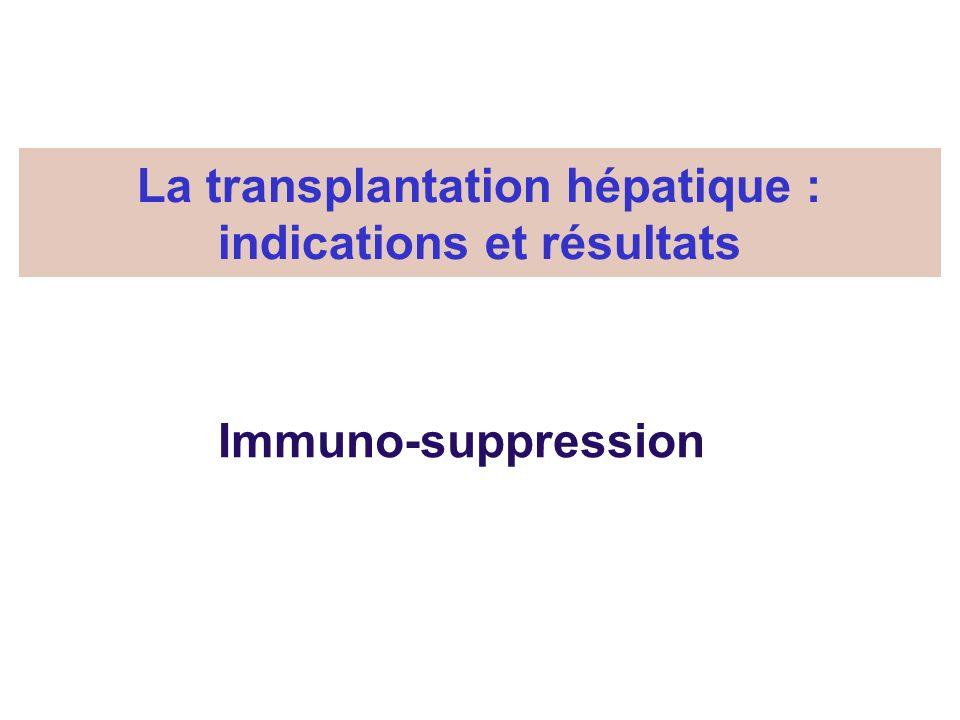 La transplantation hépatique : indications et résultats
