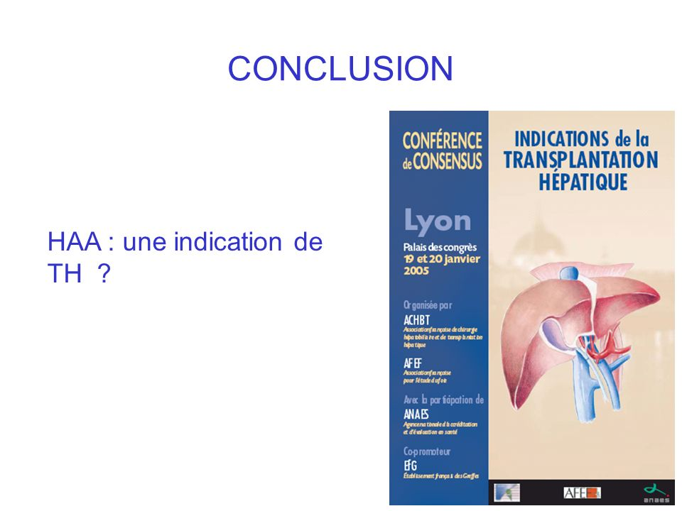 CONCLUSION HAA : une indication de TH