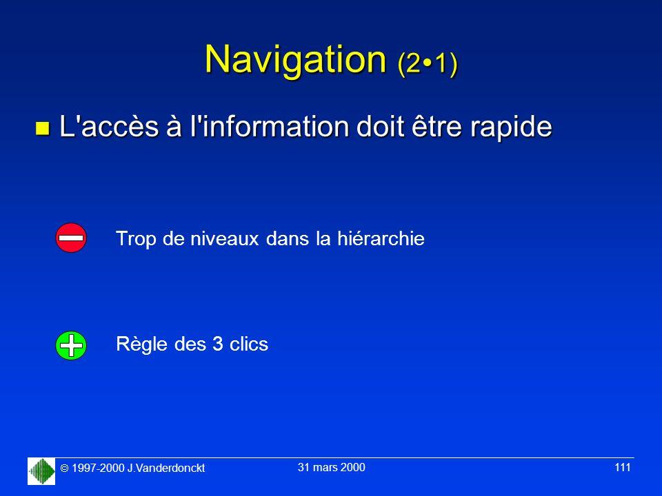 Navigation (21) L accès à l information doit être rapide