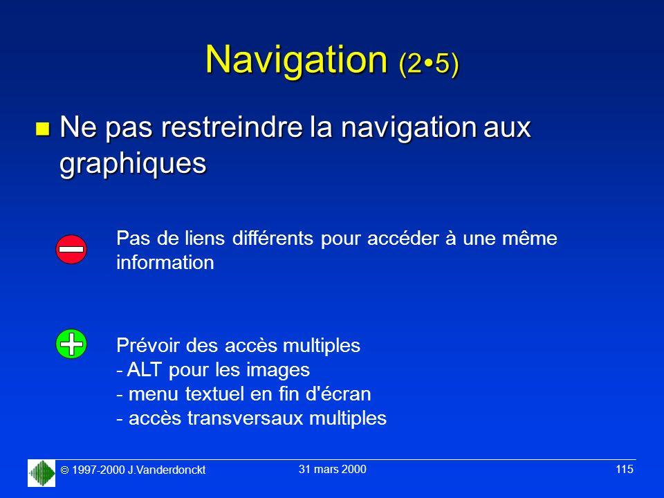 Navigation (25) Ne pas restreindre la navigation aux graphiques