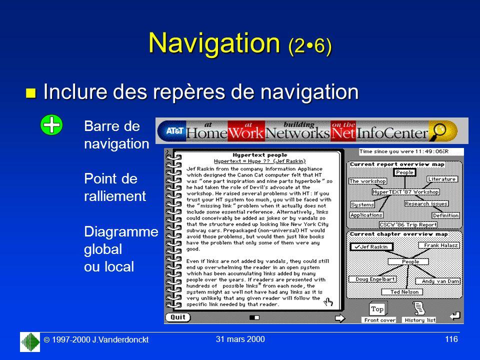 Navigation (26) Inclure des repères de navigation Barre de navigation