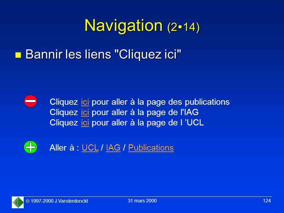 Navigation (214) Bannir les liens Cliquez ici