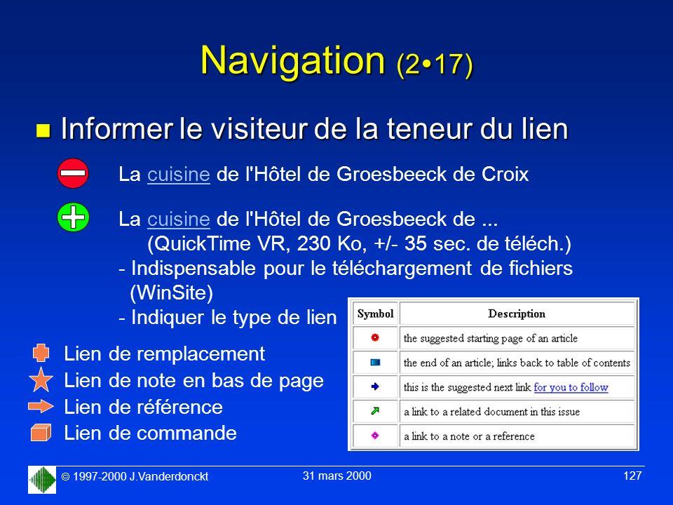 Navigation (217) Informer le visiteur de la teneur du lien