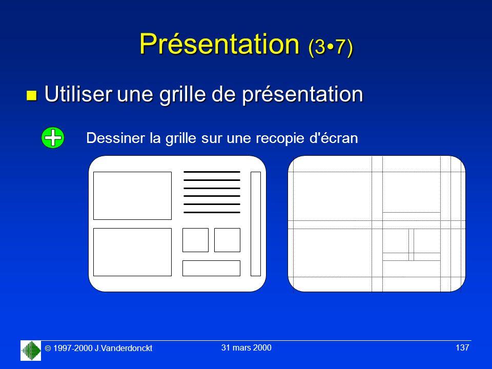 Présentation (37) Utiliser une grille de présentation