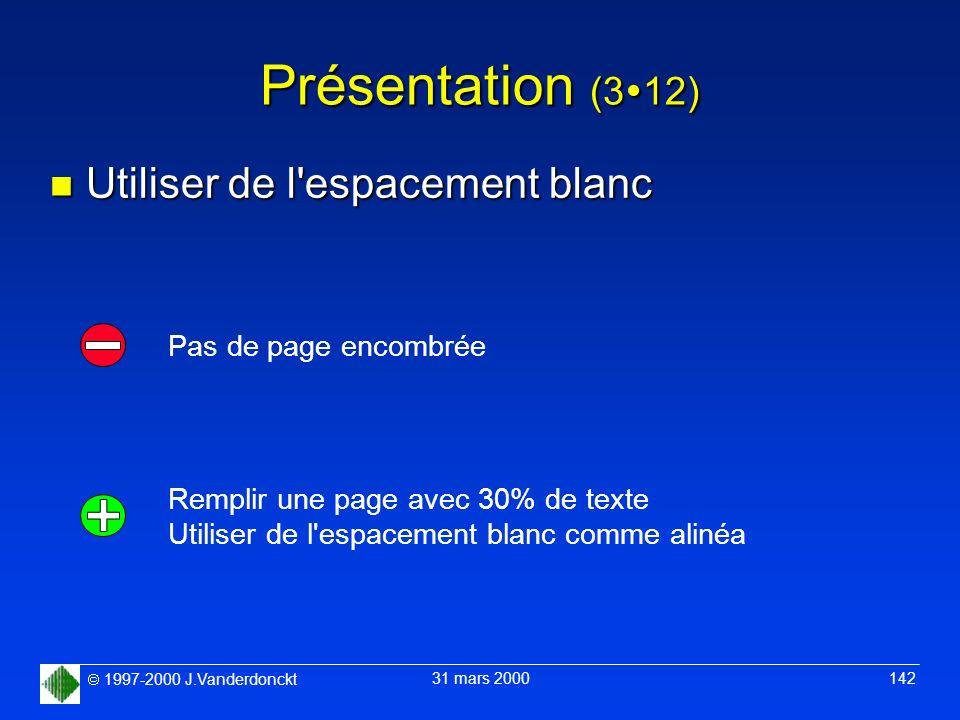 Présentation (312) Utiliser de l espacement blanc