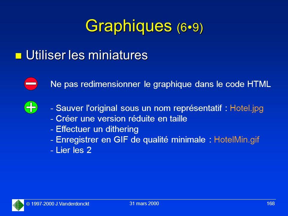 Graphiques (69) Utiliser les miniatures
