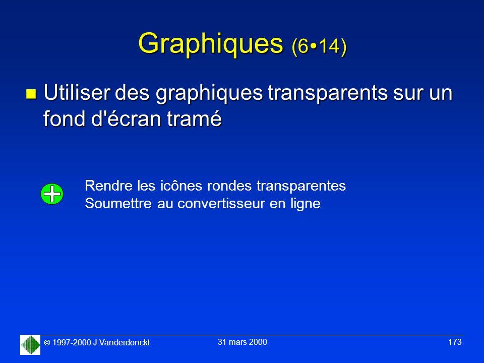 Graphiques (614) Utiliser des graphiques transparents sur un fond d écran tramé. Rendre les icônes rondes transparentes.