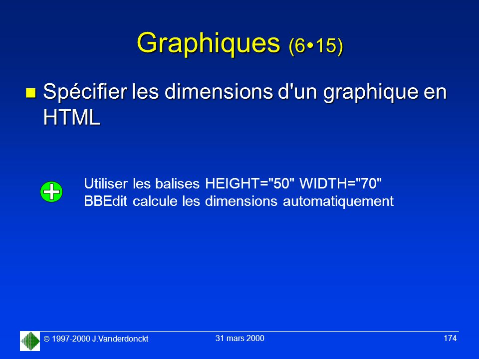 Graphiques (615) Spécifier les dimensions d un graphique en HTML