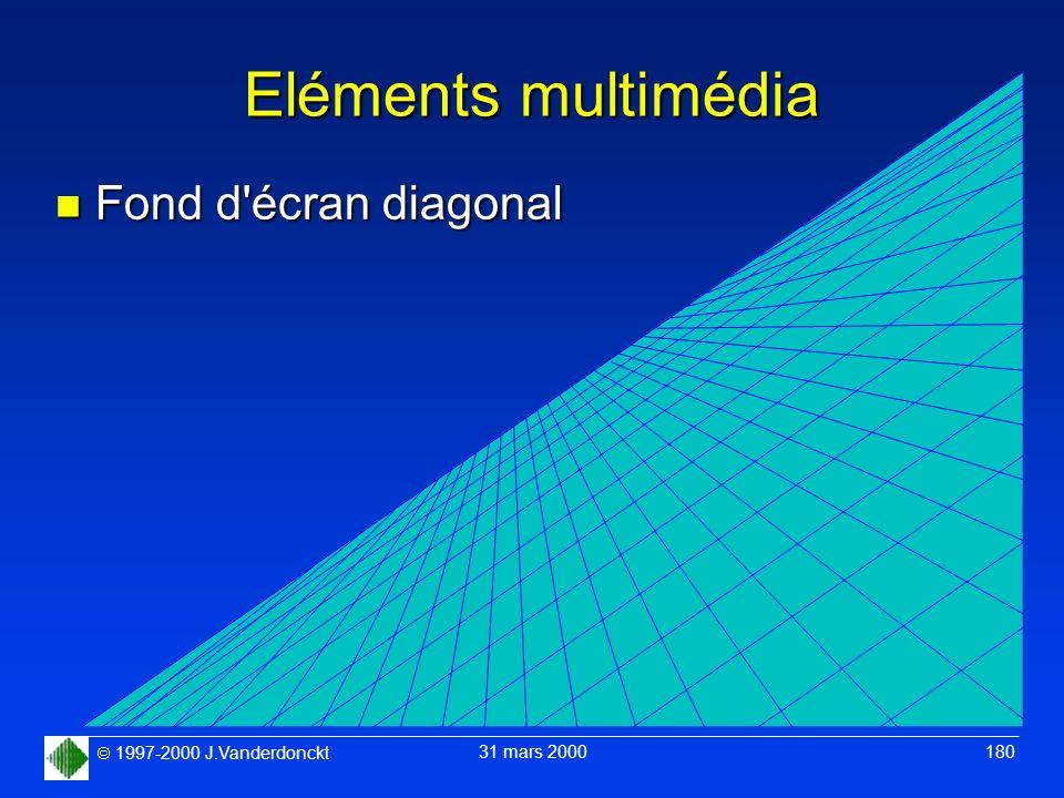 Eléments multimédia Fond d écran diagonal