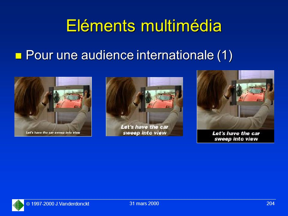 Eléments multimédia Pour une audience internationale (1)