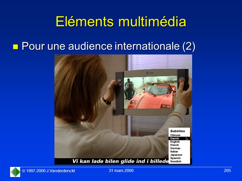 Eléments multimédia Pour une audience internationale (2)