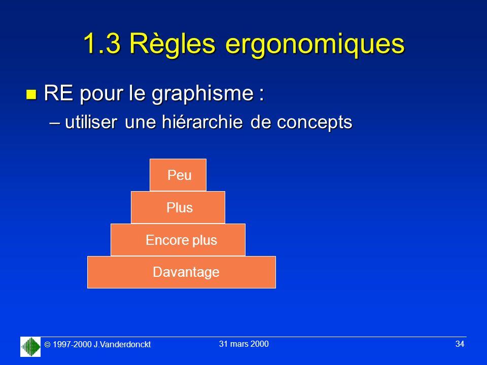 1.3 Règles ergonomiques RE pour le graphisme :