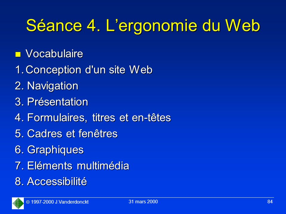 Séance 4. L'ergonomie du Web