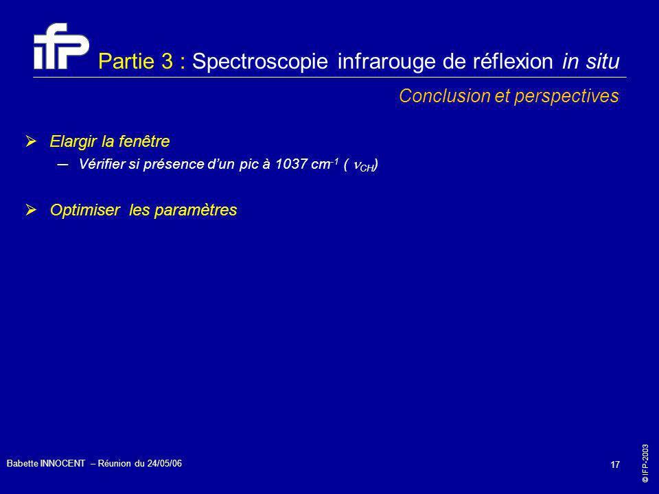 Partie 3 : Spectroscopie infrarouge de réflexion in situ