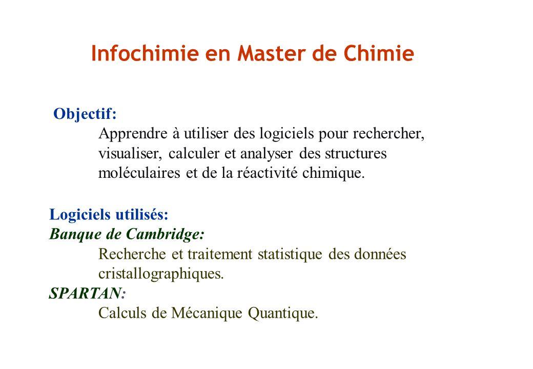 Infochimie en Master de Chimie