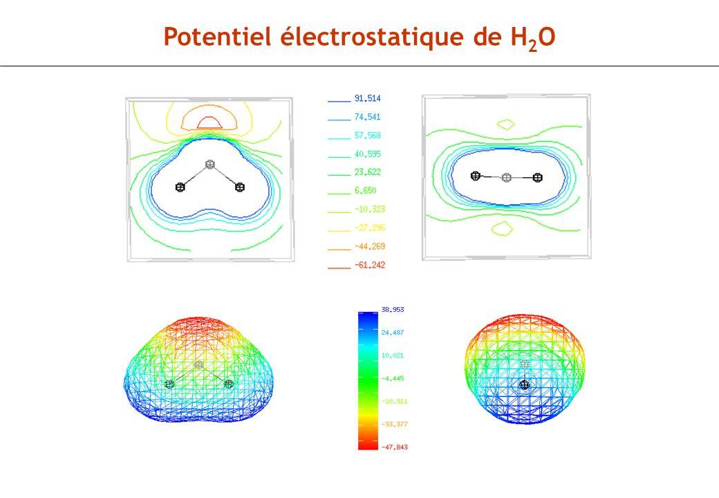 Potentiel électrostatique de H2O