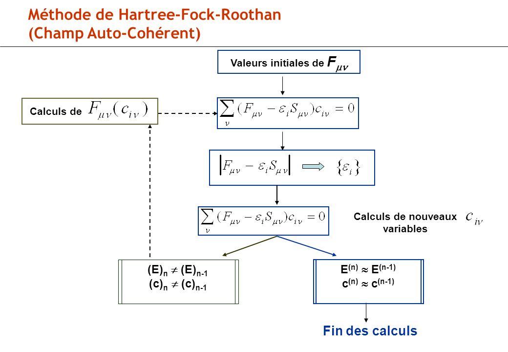 Calculs de nouveaux variables
