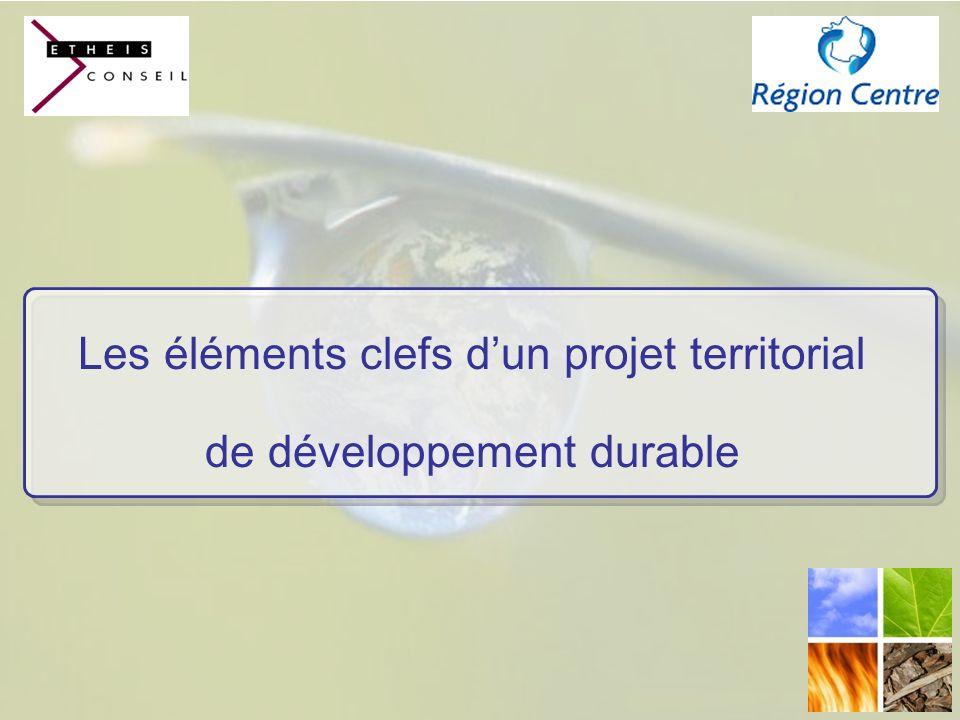 Les éléments clefs d'un projet territorial de développement durable