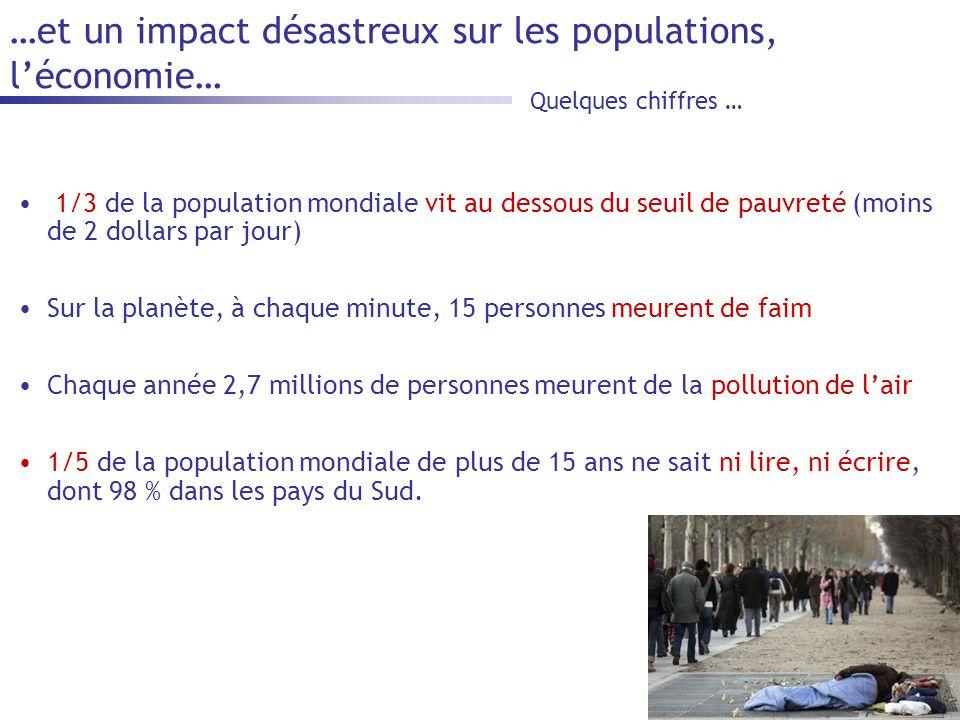 …et un impact désastreux sur les populations, l'économie…