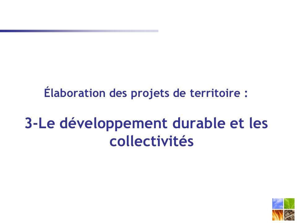 3-Le développement durable et les collectivités