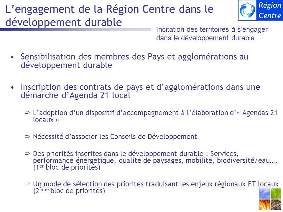 L'engagement de la Région Centre dans le développement durable