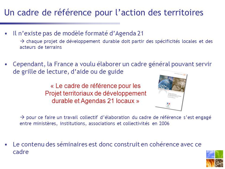 Un cadre de référence pour l'action des territoires