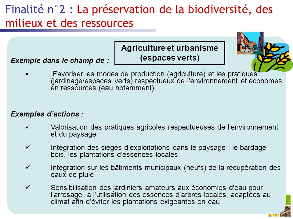Agriculture et urbanisme (espaces verts)