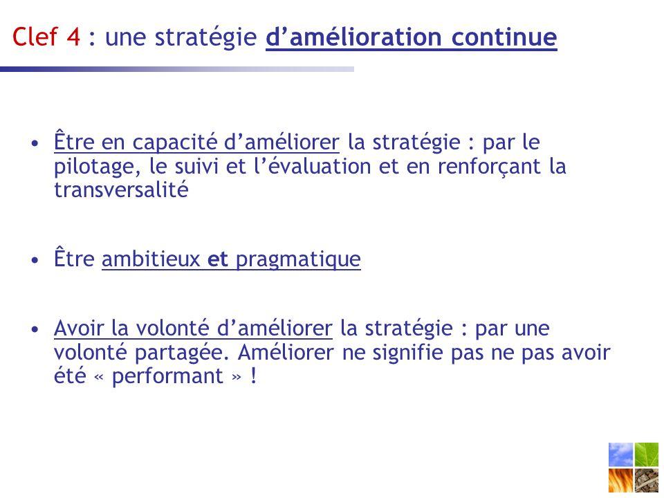 Clef 4 : une stratégie d'amélioration continue