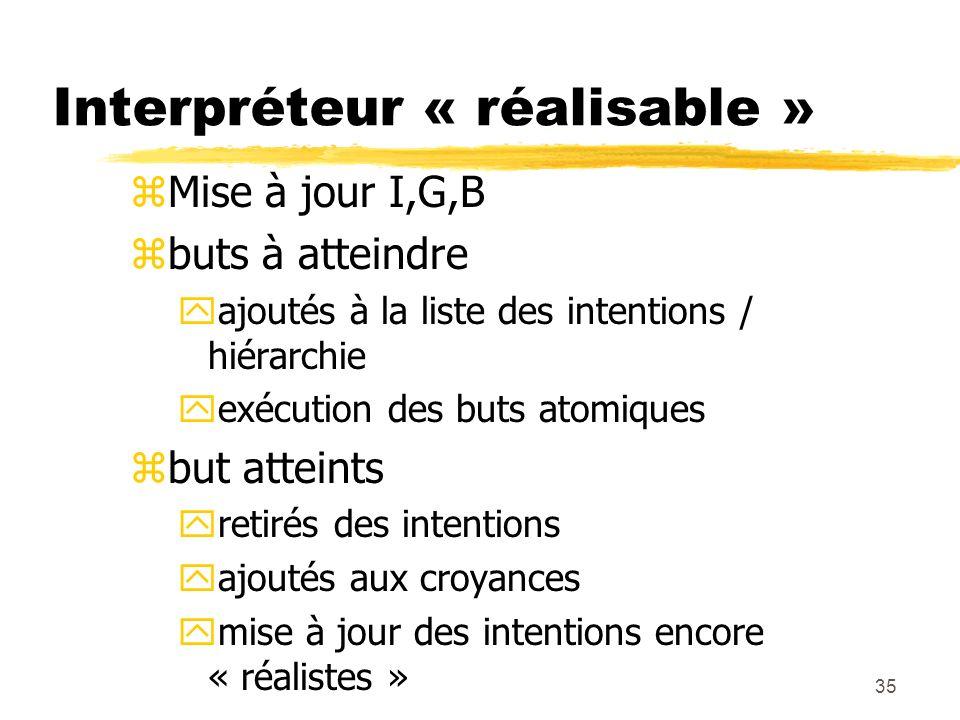 Interpréteur « réalisable »