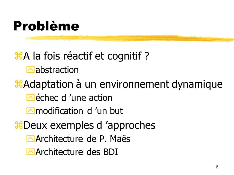 Problème A la fois réactif et cognitif