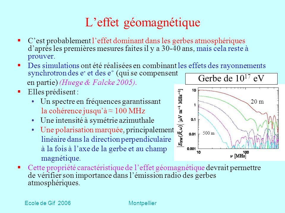 L'effet géomagnétique