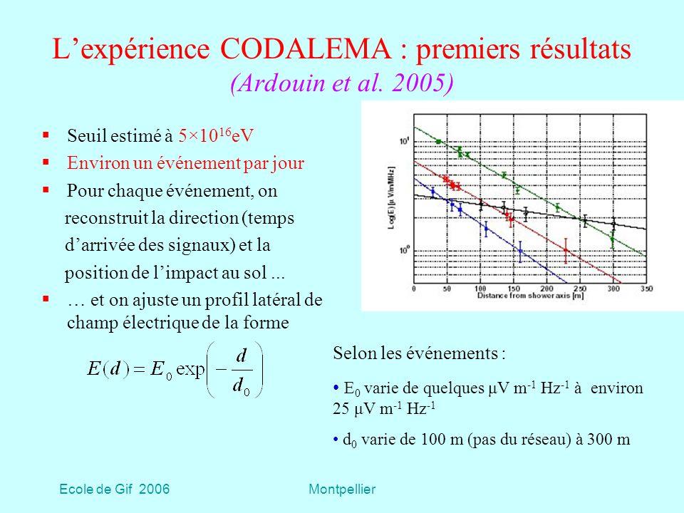 L'expérience CODALEMA : premiers résultats (Ardouin et al. 2005)