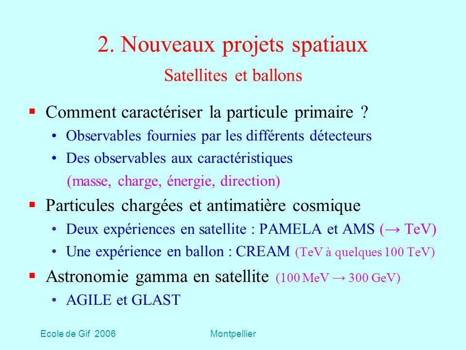 2. Nouveaux projets spatiaux
