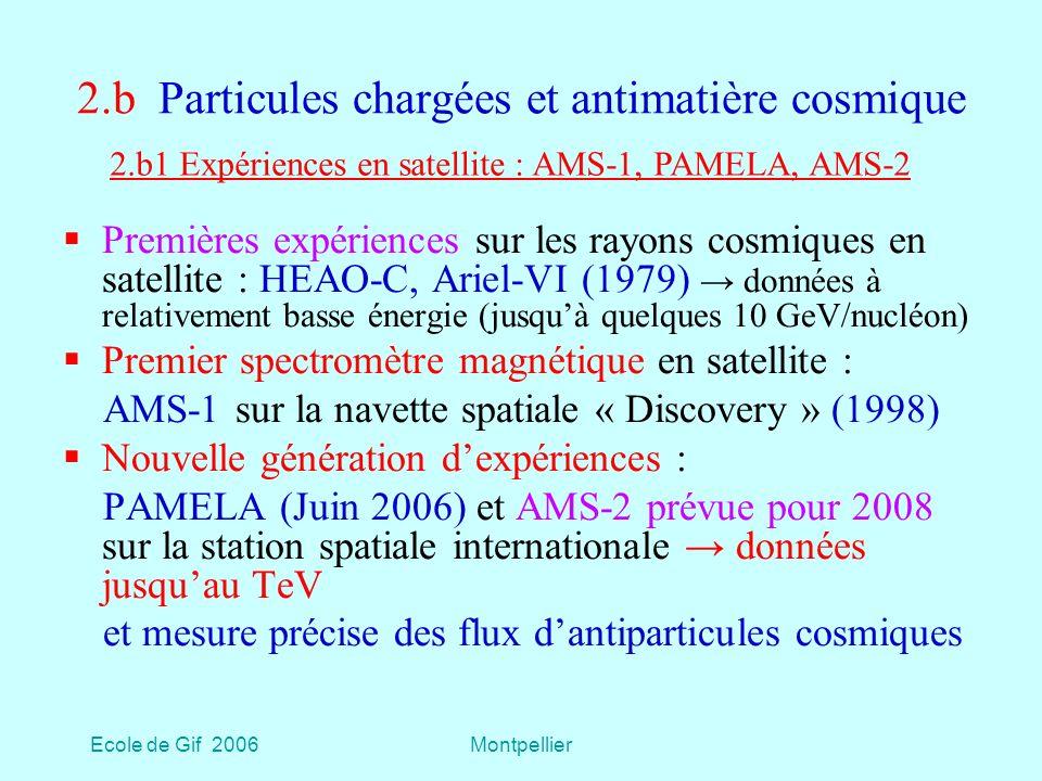2.b Particules chargées et antimatière cosmique