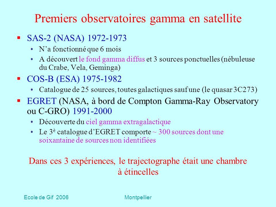Premiers observatoires gamma en satellite