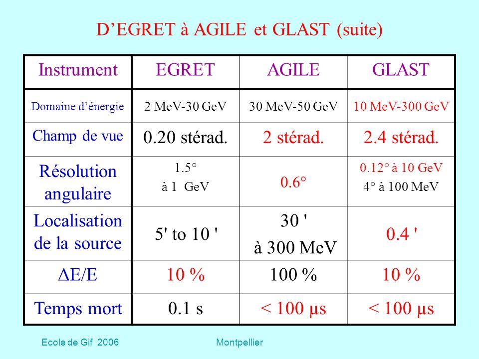 D'EGRET à AGILE et GLAST (suite)