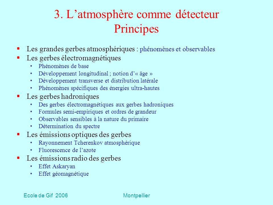 3. L'atmosphère comme détecteur Principes