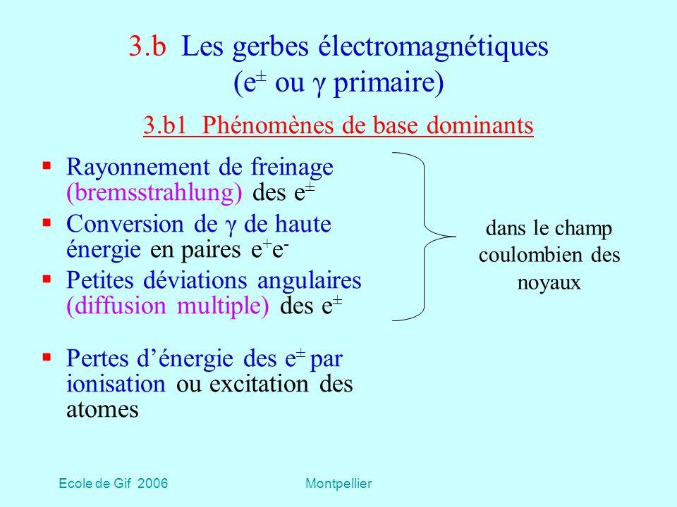 3.b Les gerbes électromagnétiques (e± ou γ primaire)