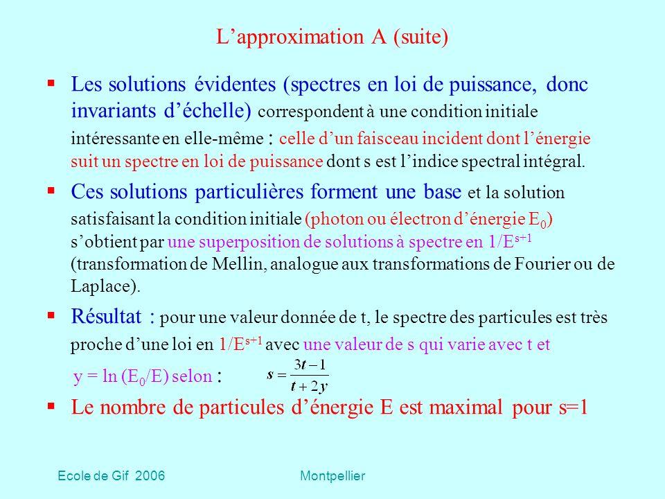 L'approximation A (suite)