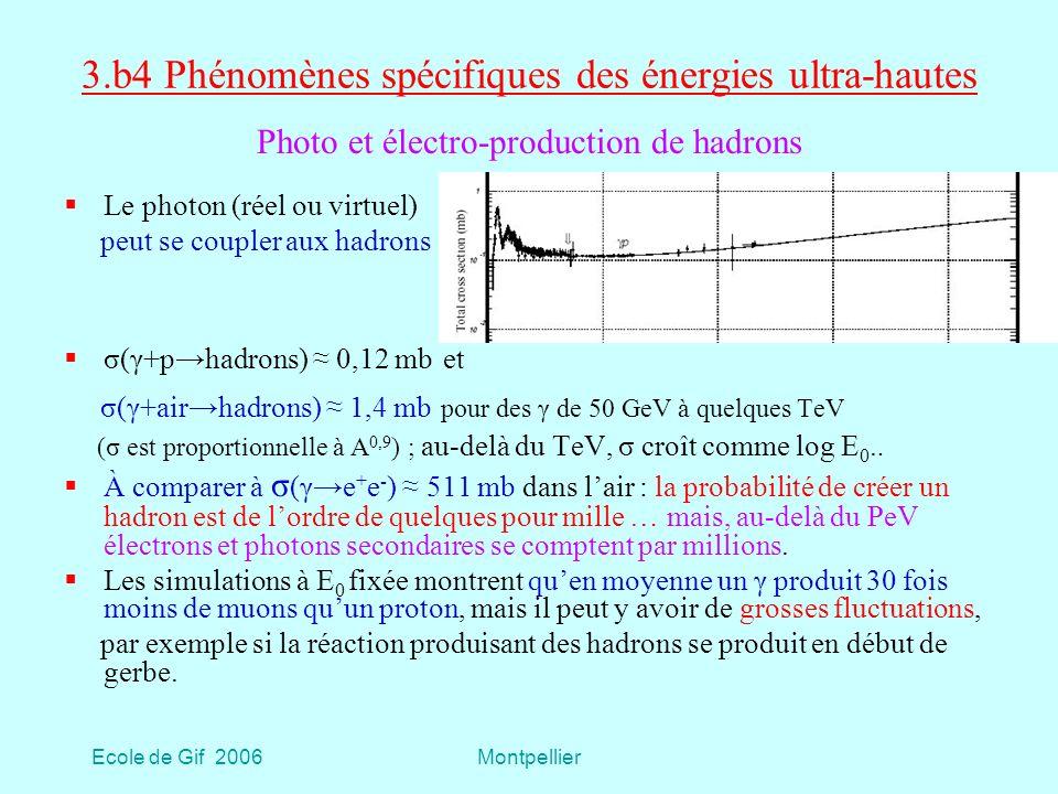 3.b4 Phénomènes spécifiques des énergies ultra-hautes