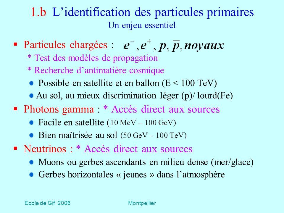1.b L'identification des particules primaires Un enjeu essentiel