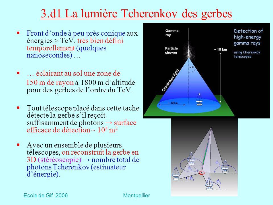 3.d1 La lumière Tcherenkov des gerbes