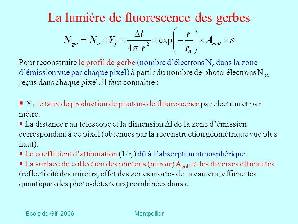 La lumière de fluorescence des gerbes