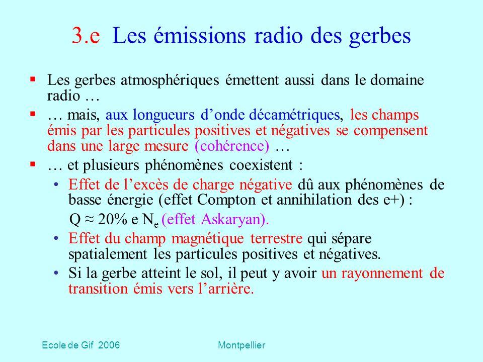 3.e Les émissions radio des gerbes