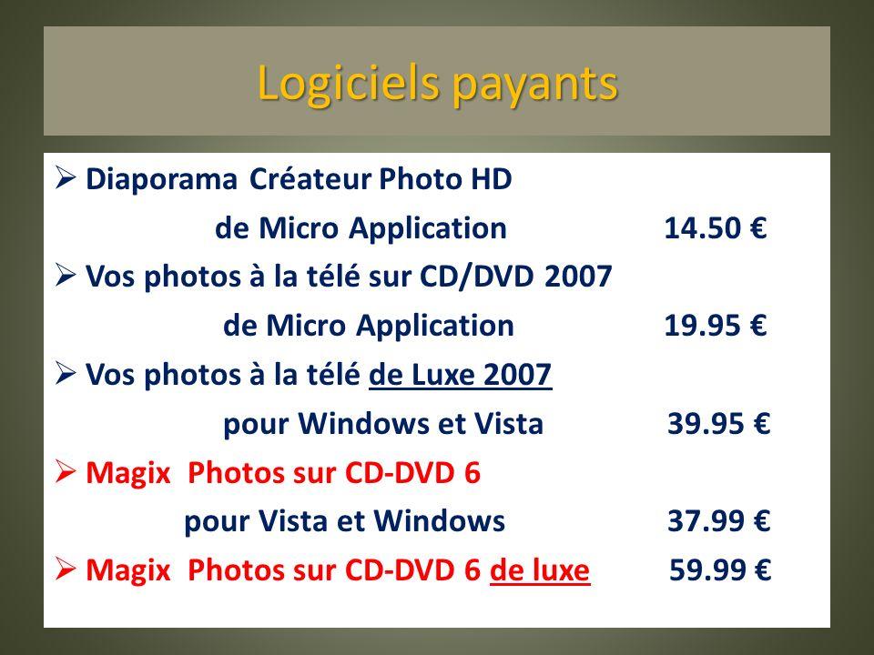 Logiciels payants Diaporama Créateur Photo HD