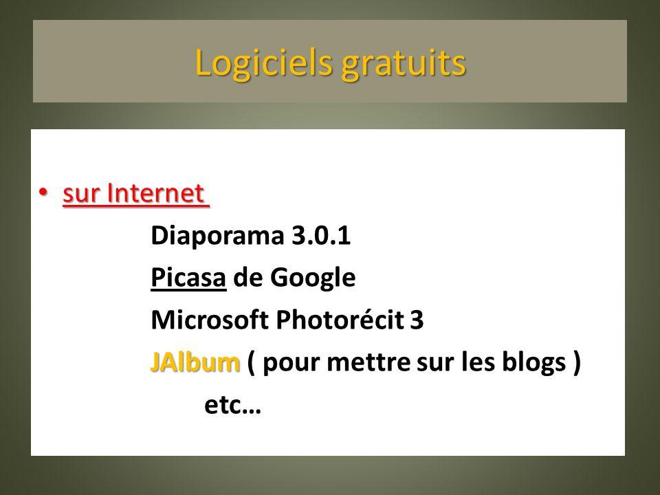 Logiciels gratuits sur Internet : Diaporama 3.0.1 Picasa de Google